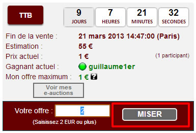 Miser eauction cgb.fr